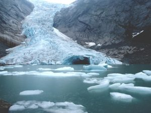 melting glaciers 2016 hottest year on record