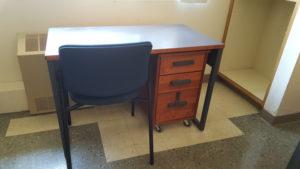 Whittier College Dorms custom desks