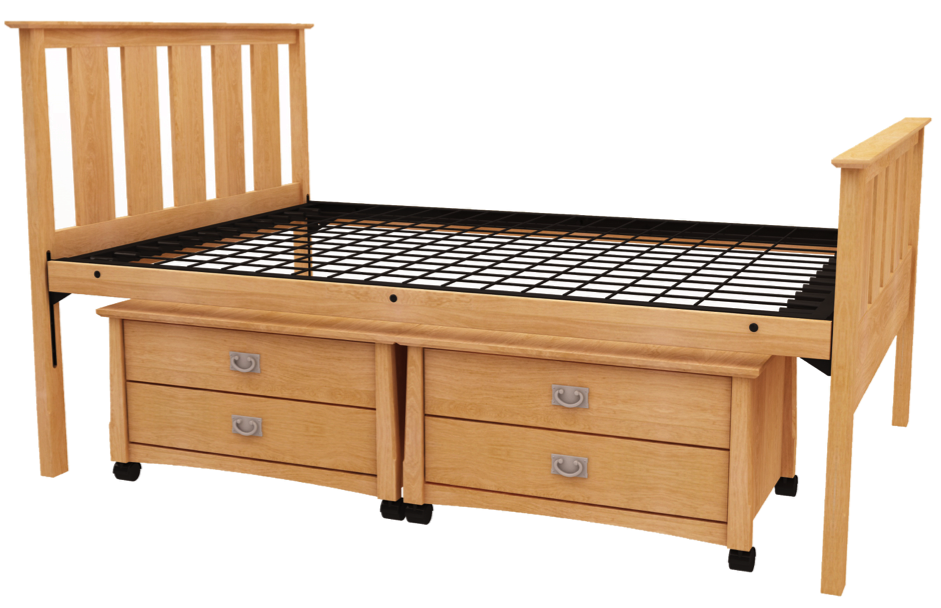 duke university dorms solid wood bed and underbed storage