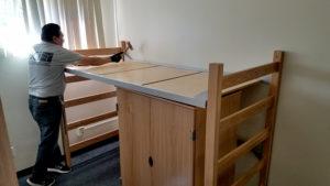 Cal Lutheran housing installation process