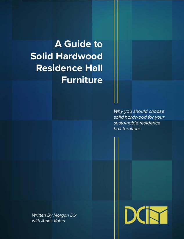 solid hardwood residence hall furniture