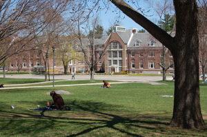 the quad at University of New Hampshire