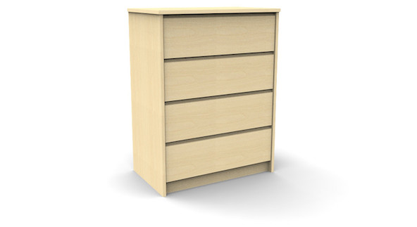 campus 4 drawer chest