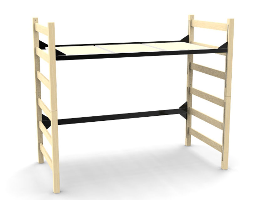 Quick Lock 3900 Loft Bed Sealed Wood Decking