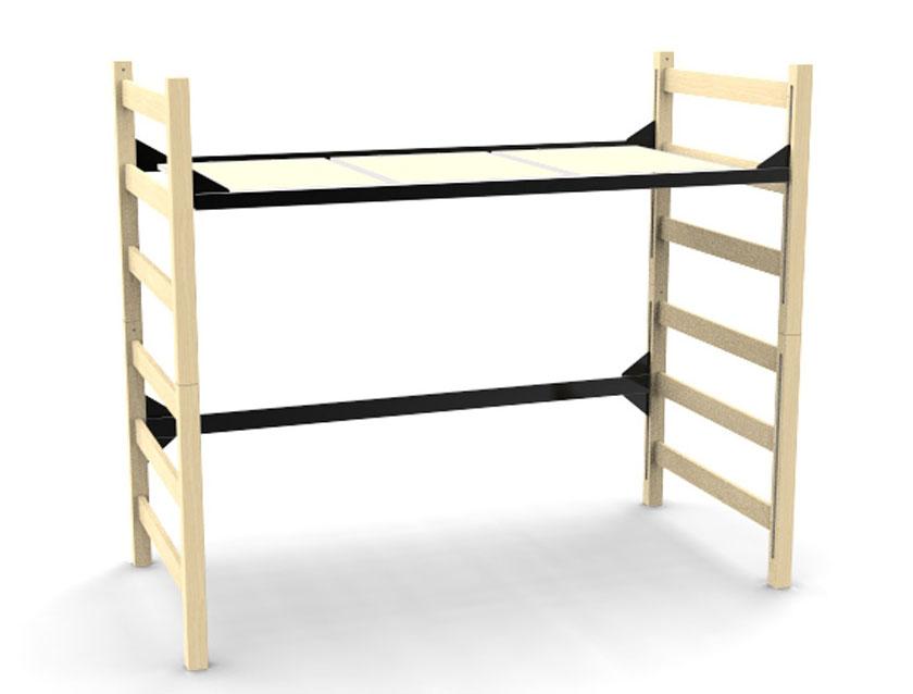 Quick Lock 3900 Loft Bed Sealed Wood Decking
