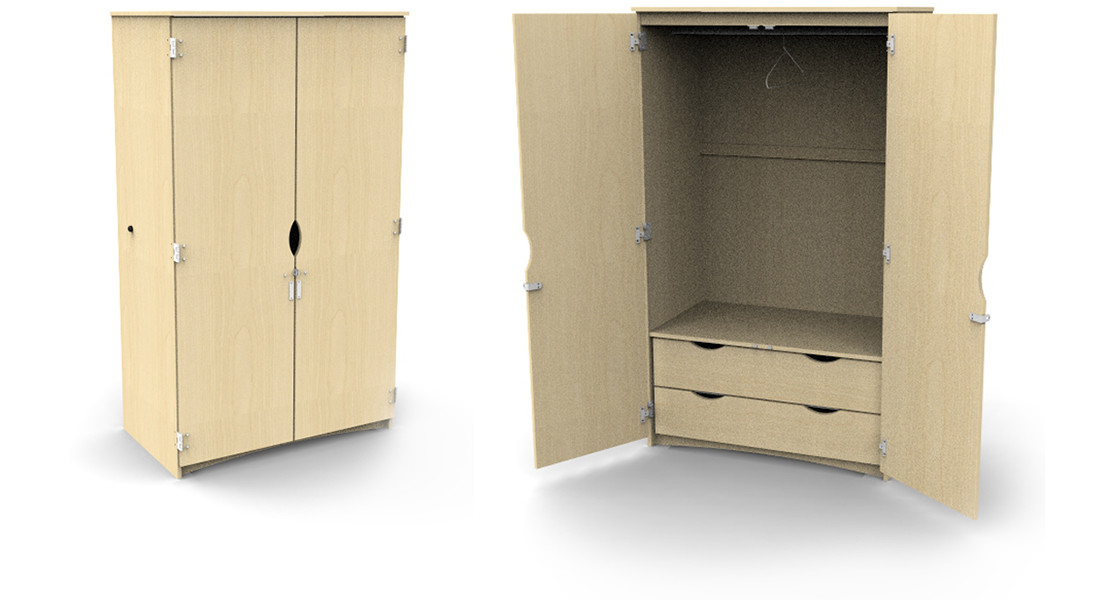 Campus Wardrobe 2 Internal Drawers