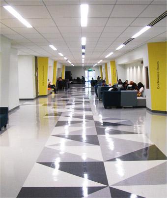 hallway informal learning spaces