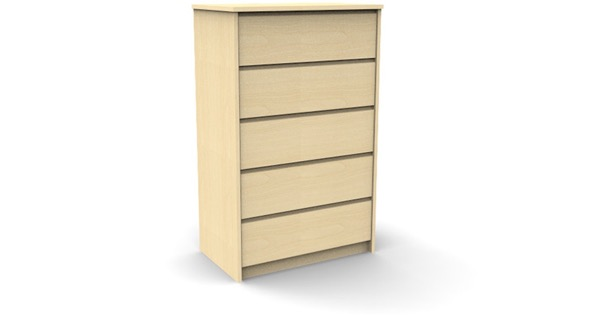 campus 5 drawer chest