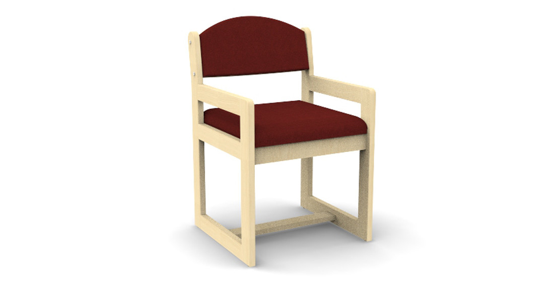 Sled Based Chair with Arms