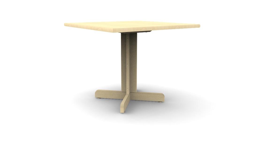Cafe Table Wood Base