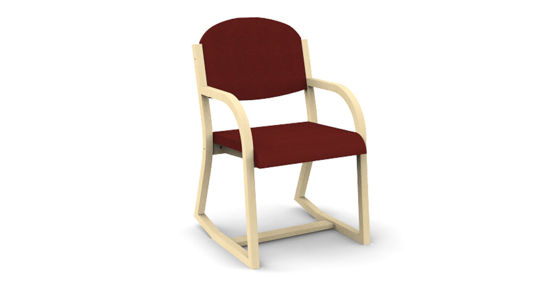 3 Position Bent Plywood Chair with Arms