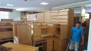 repurposed desks and dressers