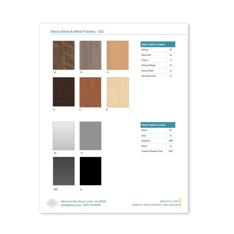 DCI Furniture Wood Stain Color Palette