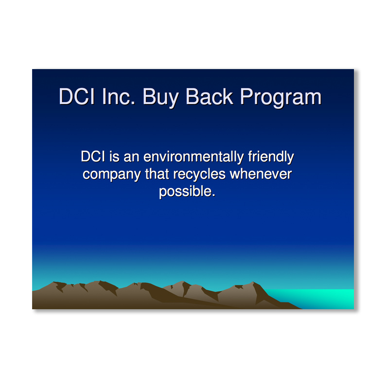 Buyback program by DCI Furniture