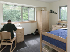 dormitory furniture at Plymouth State University