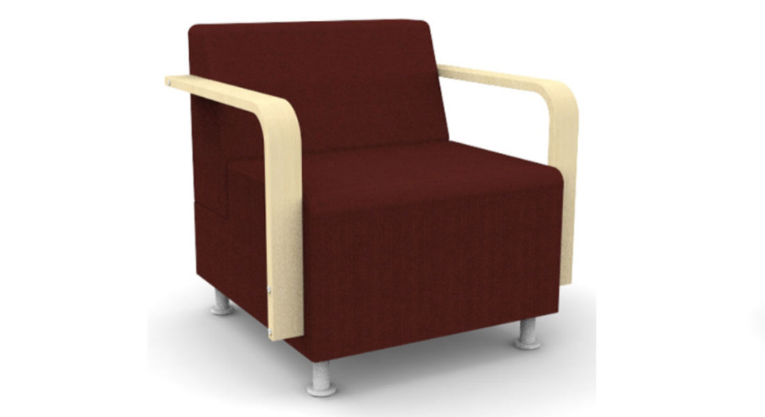 Berkeley Lounge Chair with Wood Arms