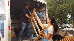 transporting furniture for the bruin shelter