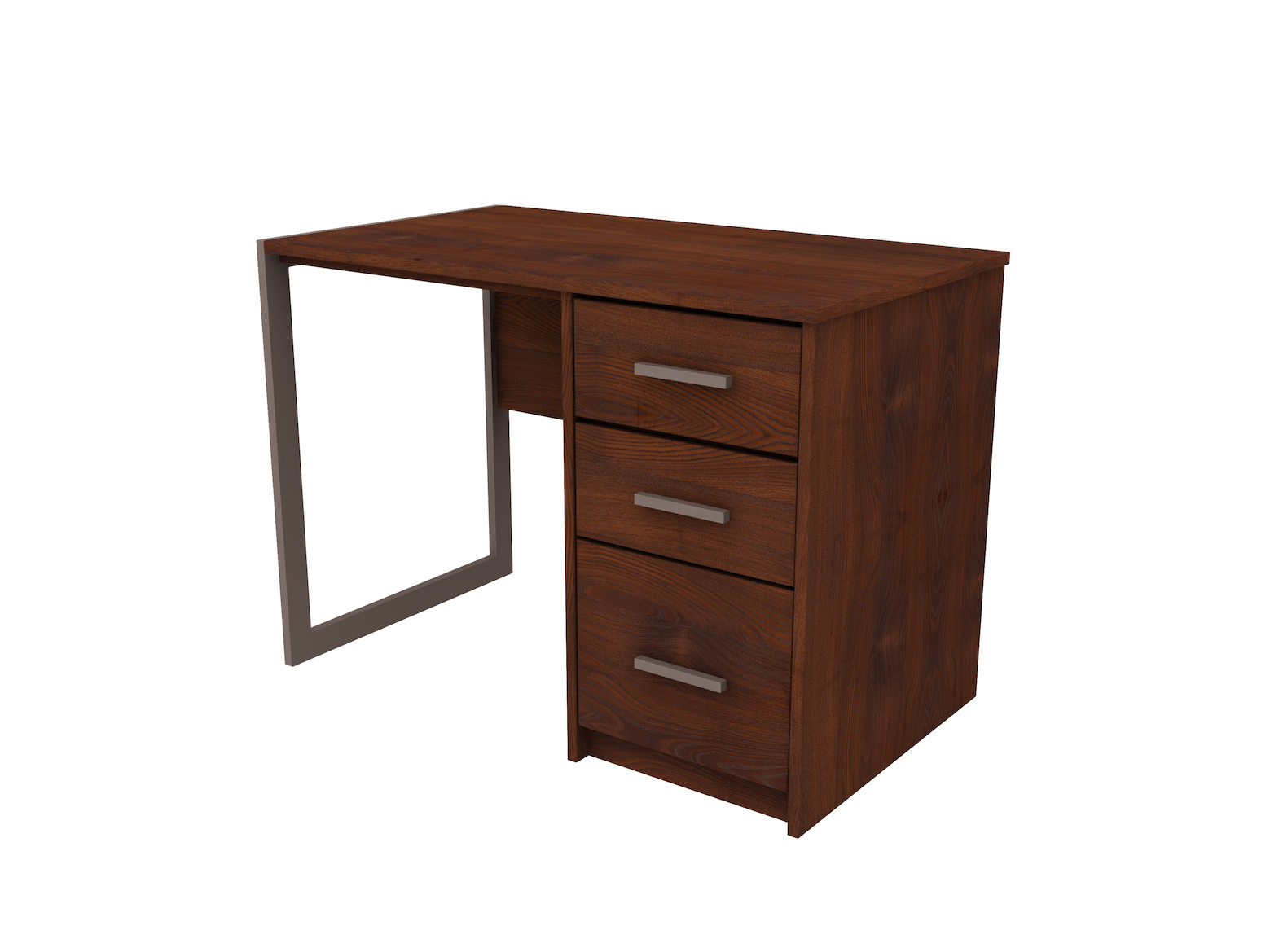 Nexus Pedestal Desk with File and 2 Box Drawers