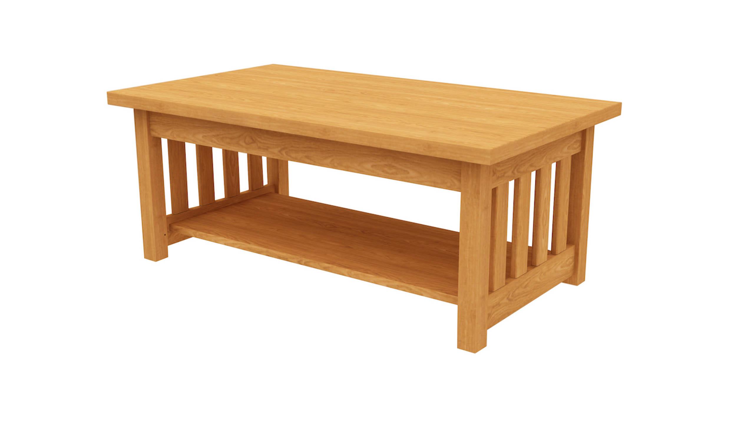 mission coffee table shelf